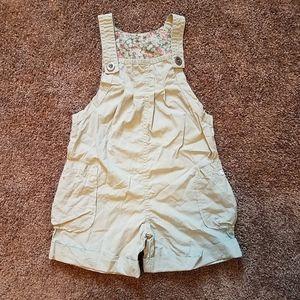 Girls Nartjie boutique tan khaki overalls